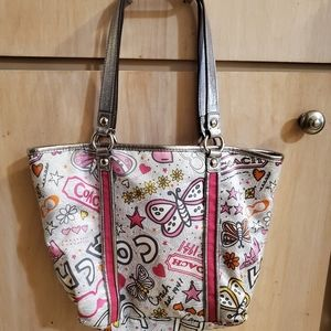 GREAT USED SMALL COACH POPPY TOTE